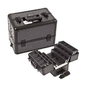 JUST CASE - PRO MAKEUP CASE (USA ONLY) - All Black Diamond (E3304DMAB) | Camera Ready Cosmetics - 6