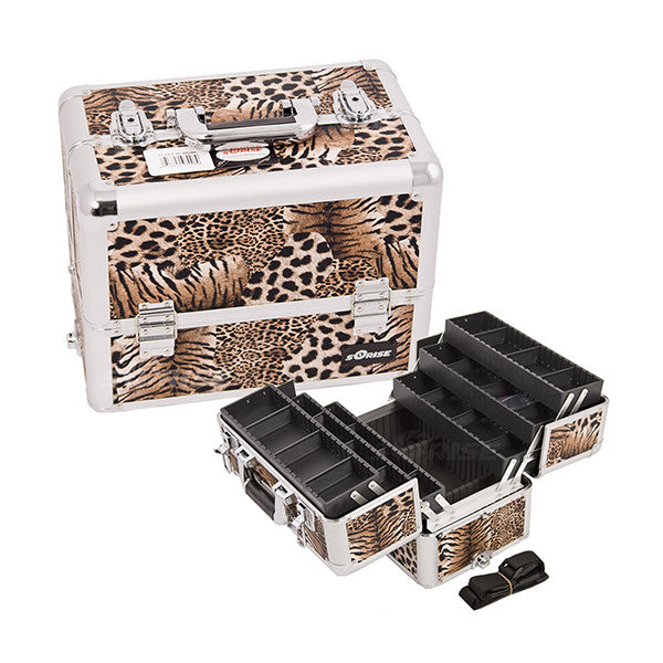 JUST CASE - PRO MAKEUP CASE (USA ONLY) - Leopard Brown (E3304LPBR) | Camera Ready Cosmetics - 9