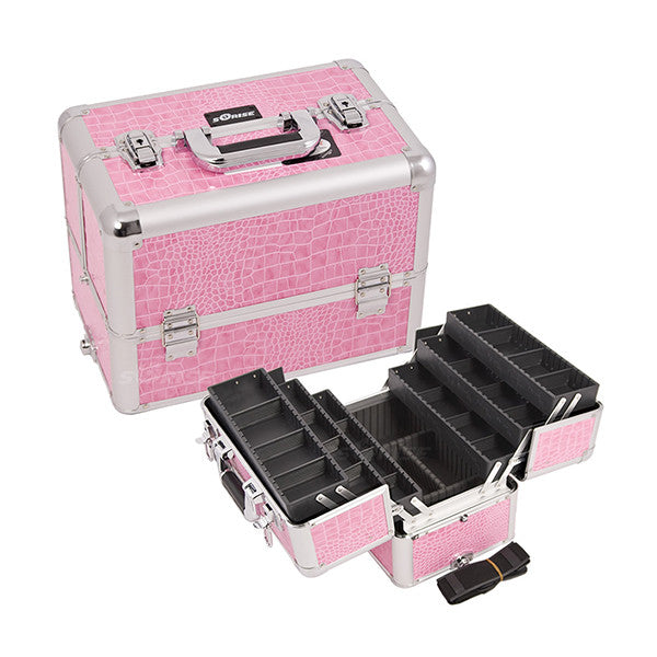 JUST CASE - PRO MAKEUP CASE (USA ONLY) - Pink Croc (E3304CRPK) | Camera Ready Cosmetics - 10