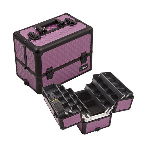 JUST CASE - PRO MAKEUP CASE (USA ONLY) - Purple/Bk Diamond (E3304DMPLB) | Camera Ready Cosmetics - 11