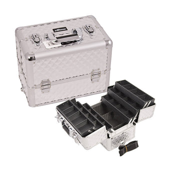 JUST CASE - PRO MAKEUP CASE (USA ONLY) - Silver Diamond (E3304DMSL) | Camera Ready Cosmetics - 12