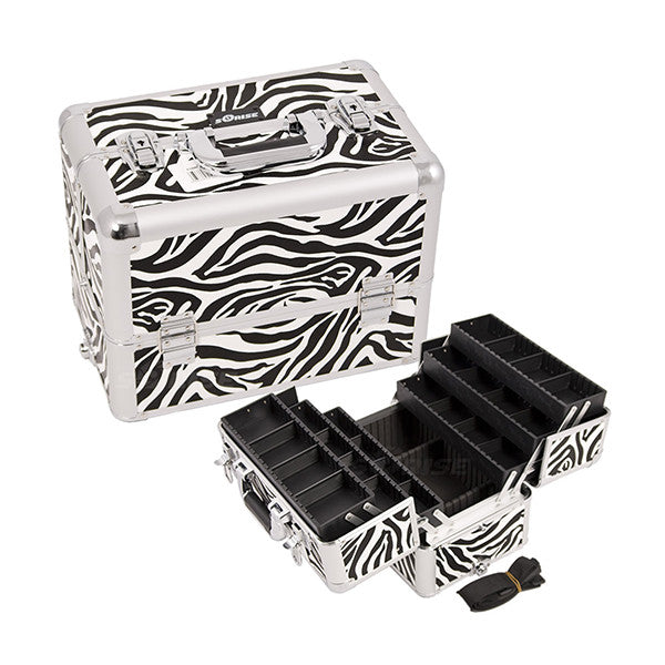 JUST CASE - PRO MAKEUP CASE (USA ONLY) - Zebra White (E3304ZBWH) | Camera Ready Cosmetics - 14