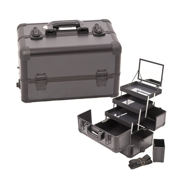 JUST CASE - PRO MAKEUP CASE E3305 (USA ONLY) - All Black (E3305PPAB) | Camera Ready Cosmetics - 2