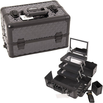 JUST CASE - PRO MAKEUP CASE E3305 (USA ONLY) - All Black Diamond (E3305DMAB) | Camera Ready Cosmetics - 6