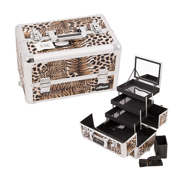 JUST CASE - PRO MAKEUP CASE E3305 (USA ONLY) - Leopard Brown (E3305LPBR) | Camera Ready Cosmetics - 9