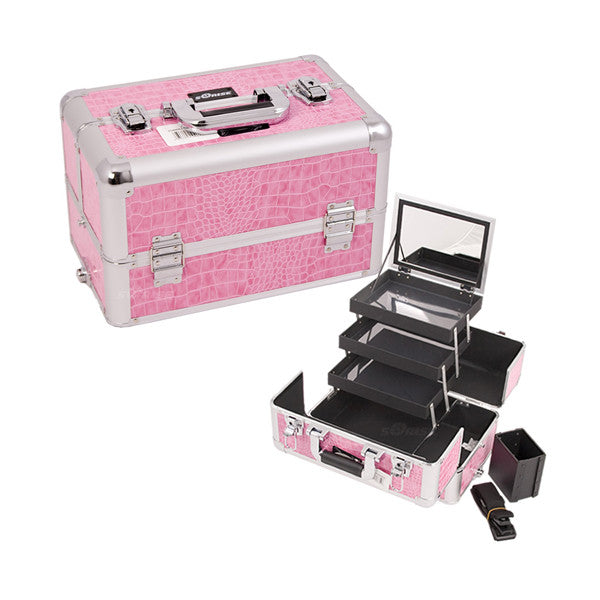 JUST CASE - PRO MAKEUP CASE E3305 (USA ONLY) - Pink Croc (E3305CRPK) | Camera Ready Cosmetics - 10