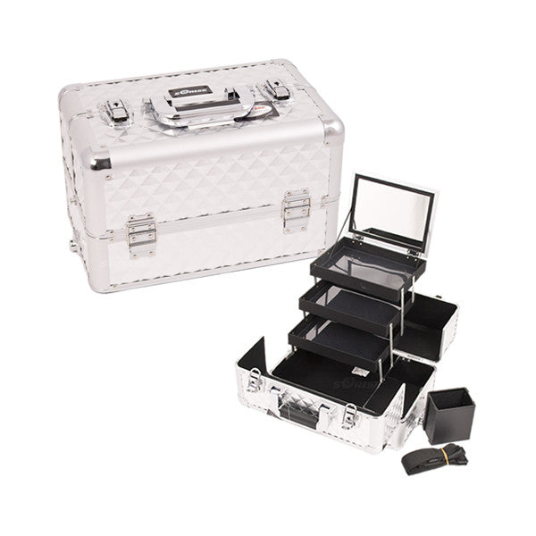 JUST CASE - PRO MAKEUP CASE E3305 (USA ONLY) - Silver Diamond (E3305DMSL) | Camera Ready Cosmetics - 12