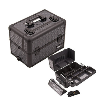 JUST CASE PRO MAKEUP CASE E3307 (USA Only) - All Black Diamond (E3307DMAB) | Camera Ready Cosmetics - 2