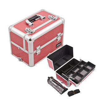 JUST CASE PRO MAKEUP CASE E3307 (USA Only) - H-Pink Croc (E3307CRHP) | Camera Ready Cosmetics - 4