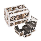 JUST CASE - MAKEUP CASE WITH MIRROR M1001 (USA ONLY) - Leopard (M1001LPBR) | Camera Ready Cosmetics - 4