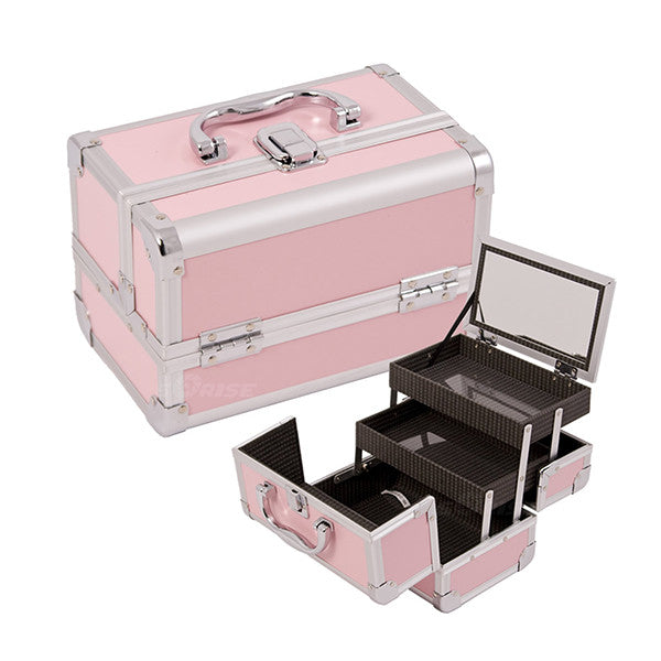 JUST CASE - MAKEUP CASE WITH MIRROR M1001 (USA ONLY) - Pink (M1001PPPK) | Camera Ready Cosmetics - 6