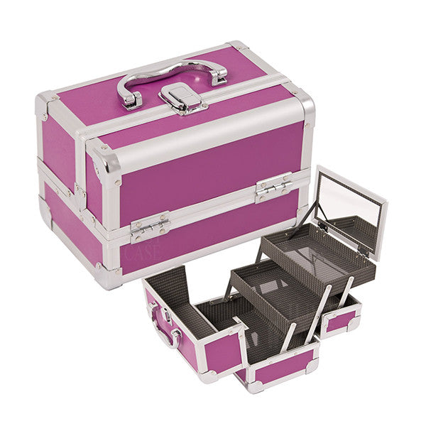 JUST CASE - MAKEUP CASE WITH MIRROR M1001 (USA ONLY) - Purple (M1001PPPL) | Camera Ready Cosmetics - 7