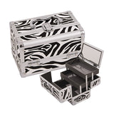 JUST CASE - MAKEUP CASE WITH MIRROR M1001 (USA ONLY) - Zebra White (M1001ZBWH) | Camera Ready Cosmetics - 9