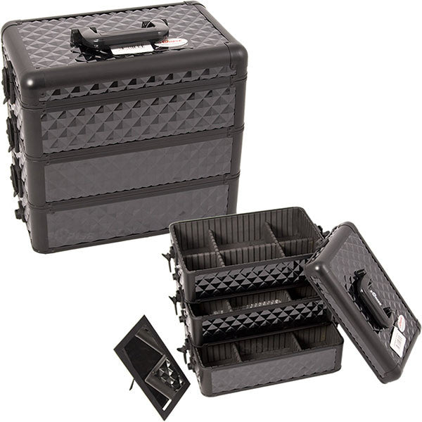 JUST CASE - PRO MAKEUP CASE E3303 E3303 (USA ONLY) - All Black Diamond (E3303DMAB) | Camera Ready Cosmetics - 6