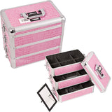 JUST CASE - PRO MAKEUP CASE E3303 E3303 (USA ONLY) - Pink Croc (E3303CRPK) | Camera Ready Cosmetics - 10