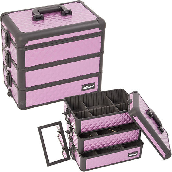 JUST CASE - PRO MAKEUP CASE E3303 E3303 (USA ONLY) - Purple/Bk Diamond (E3303DMPLB) | Camera Ready Cosmetics - 11