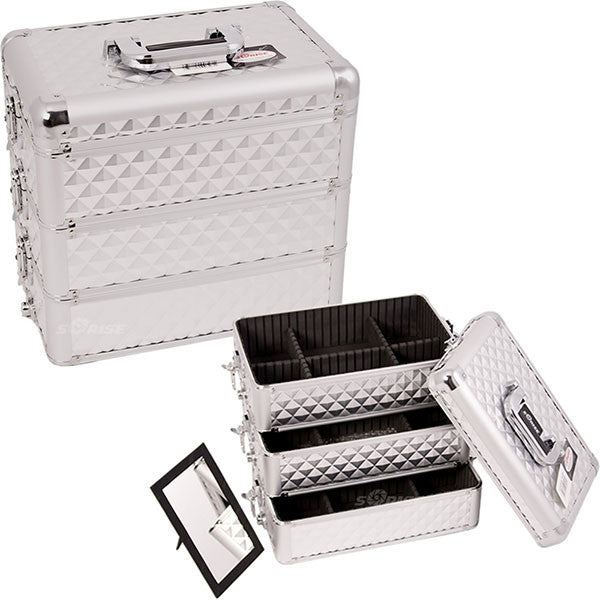 JUST CASE - PRO MAKEUP CASE E3303 E3303 (USA ONLY) - Silver Diamond (E3303DMSL) | Camera Ready Cosmetics - 12