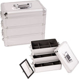 JUST CASE - PRO MAKEUP CASE E3303 E3303 (USA ONLY) - Silver Dot (E3303DTSL) | Camera Ready Cosmetics - 13