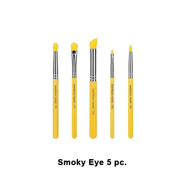 Bdellium Tools Yellow Bambu Brush Sets - Yellow Bambu Smoky Eye 5pc. Set | Camera Ready Cosmetics - 2