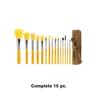 Bdellium Tools Yellow Bambu Brush Sets - Yellow Bambu Complete 15pc. Set | Camera Ready Cosmetics - 5