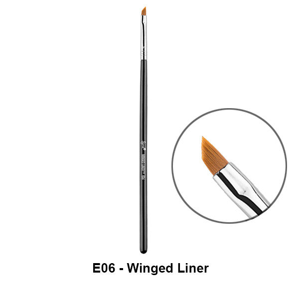 Sigma Brushes for Eyes - E06 - Winged Liner | Camera Ready Cosmetics - 3