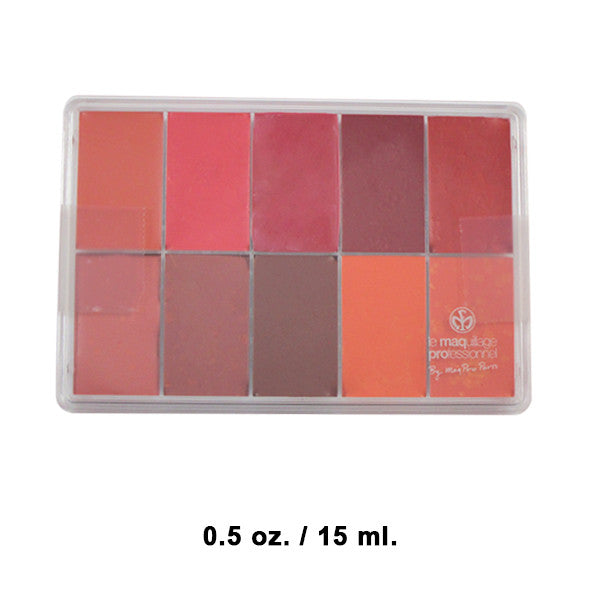 Maqpro Lip and Rouge Palette PP18 - 0.5oz./15ml. Slim Sample | Camera Ready Cosmetics - 2
