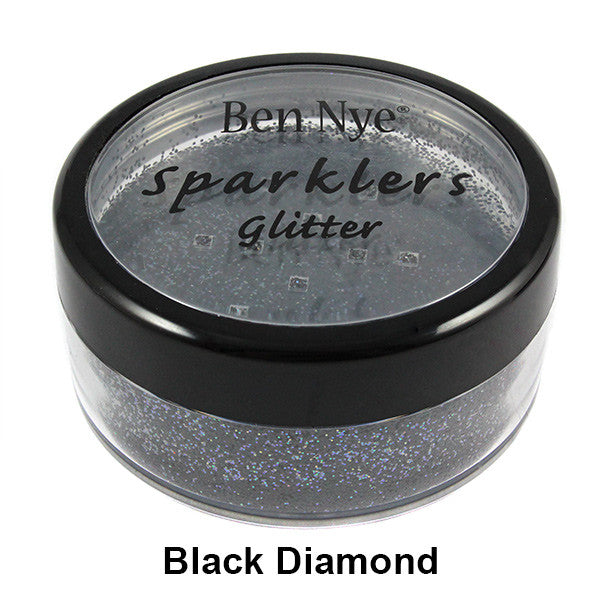 Ben Nye Sparklers Loose Glitter - Black Diamond / Large .5oz/14gm | Camera Ready Cosmetics - 18