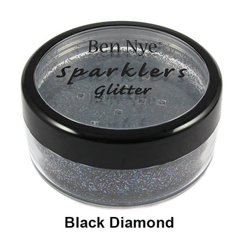 alt Ben Nye Sparklers Loose Glitter Black Diamond / Large .5oz/14gm