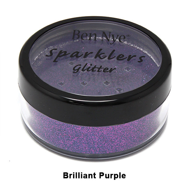 Ben Nye Sparklers Loose Glitter - Brilliant Purple / Large .5oz/14gm | Camera Ready Cosmetics - 19