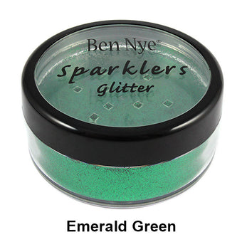 alt Ben Nye Sparklers Loose Glitter Emerald Green (Loose) / Large .5oz/14gm