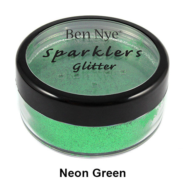 Ben Nye Sparklers Loose Glitter - Neon Green / Large .5oz/14gm | Camera Ready Cosmetics - 26