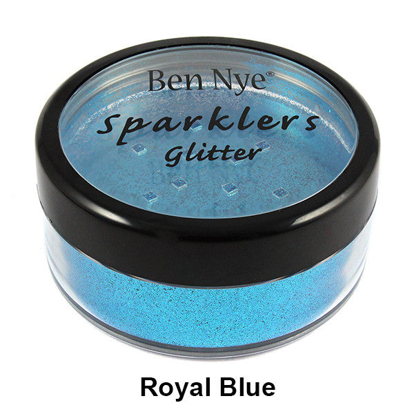 Ben Nye Sparklers Loose Glitter - Royal Blue / Large .5oz/14gm | Camera Ready Cosmetics - 28