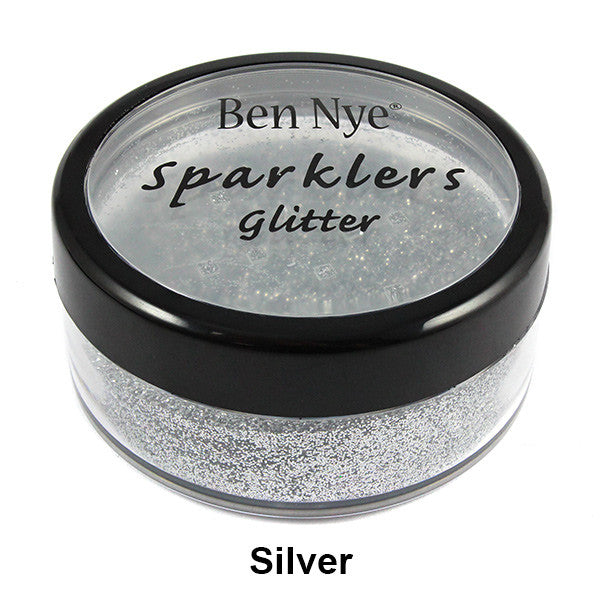 Ben Nye Sparklers Loose Glitter - Silver / Large .5oz/14gm | Camera Ready Cosmetics - 29