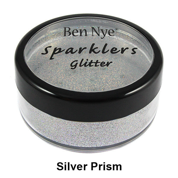 Ben Nye Sparklers Loose Glitter - Silver Prism / Large .5oz/14gm | Camera Ready Cosmetics - 30