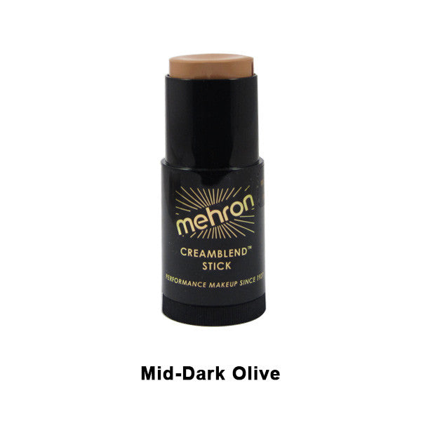 Mehron CreamBlend Stick - Mid-Dark Olive (400-OS8) | Camera Ready Cosmetics - 41