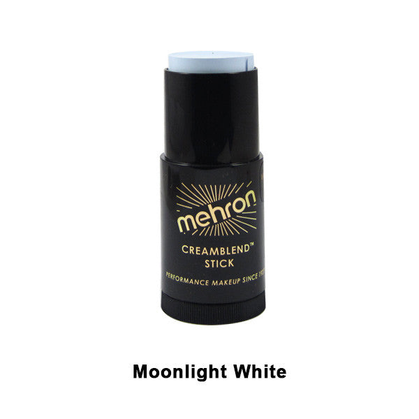 Mehron CreamBlend Stick - Moonlight White (400-MW) | Camera Ready Cosmetics - 44