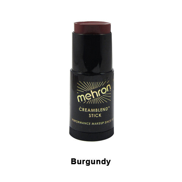 Mehron CreamBlend Stick - Burgundy (400-BY) | Camera Ready Cosmetics - 9