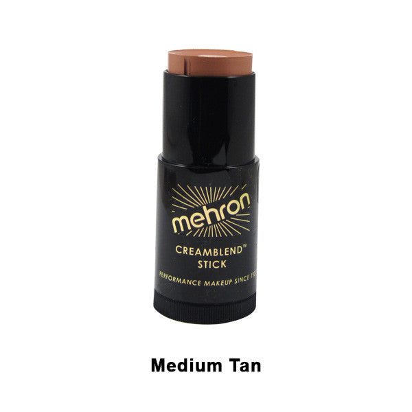 Mehron CreamBlend Stick - Medium Tan (400-TV8) | Camera Ready Cosmetics - 40