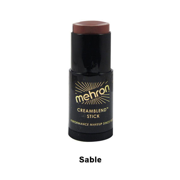 Mehron CreamBlend Stick - Sable Brown (400-7C) | Camera Ready Cosmetics - 56