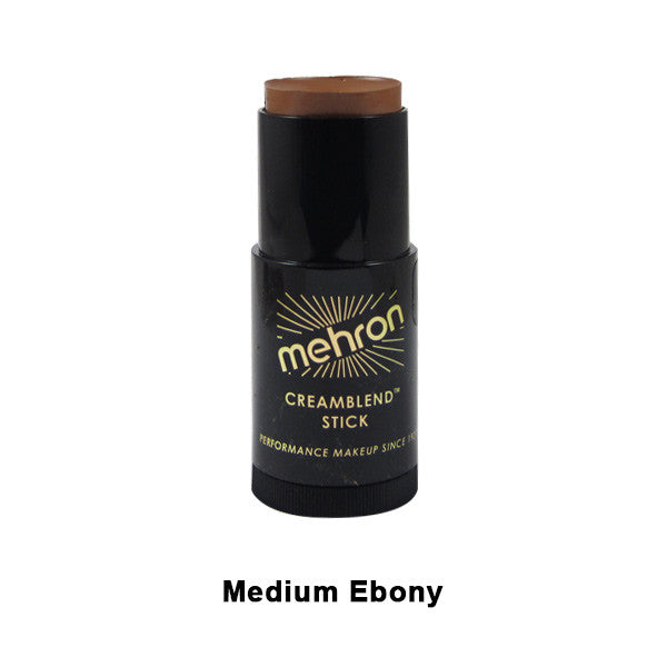 Mehron CreamBlend Stick - Medium Ebony (400-ME) | Camera Ready Cosmetics - 37