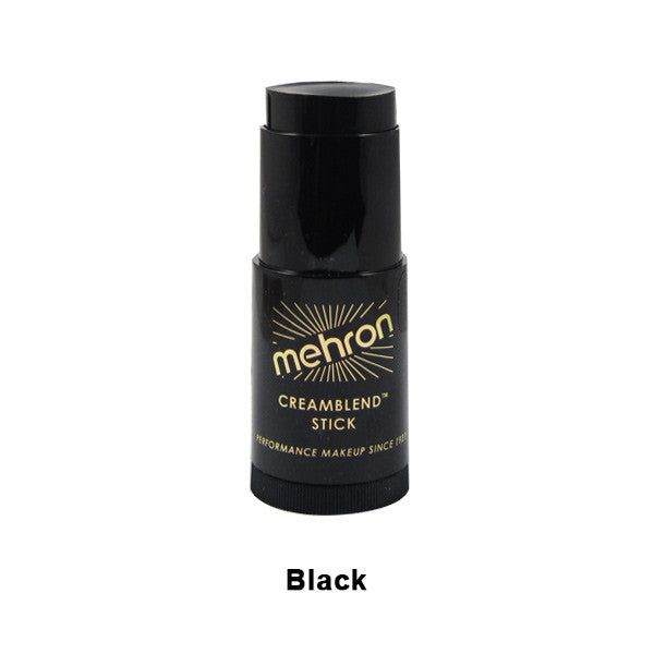 Mehron CreamBlend Stick - Black (400-B) | Camera Ready Cosmetics - 6