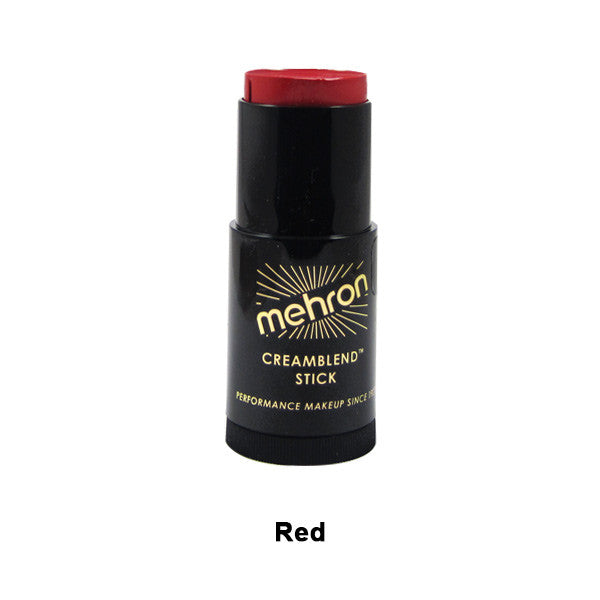 Mehron CreamBlend Stick - Red (400-R) | Camera Ready Cosmetics - 53