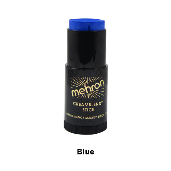 Mehron CreamBlend Stick - Blue (400-BL) | Camera Ready Cosmetics - 7