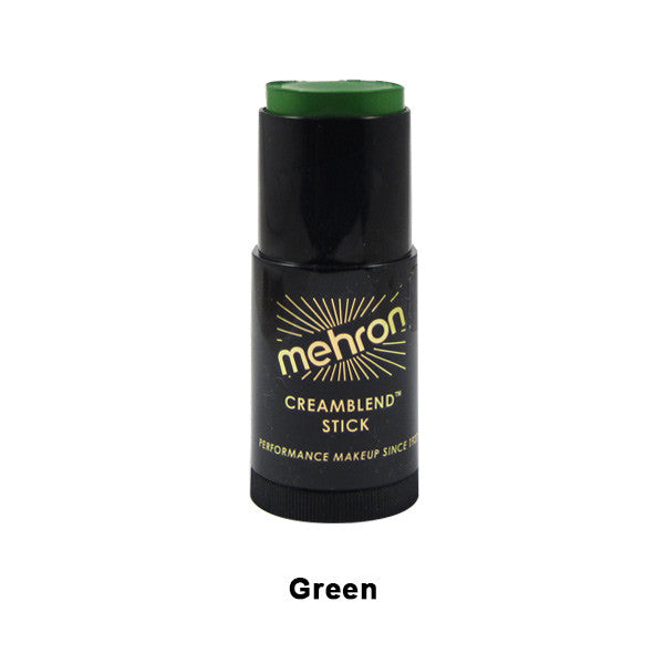 Mehron CreamBlend Stick - Green (400-G) | Camera Ready Cosmetics - 23