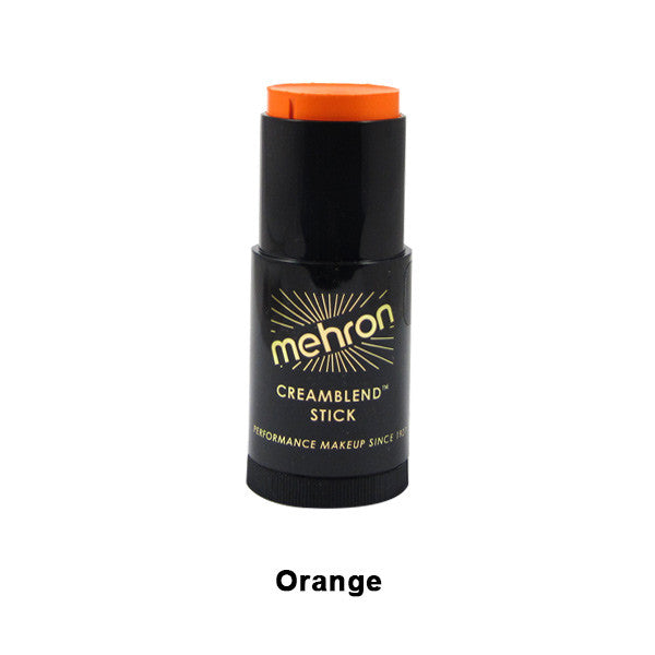 Mehron CreamBlend Stick - Orange (400-O) | Camera Ready Cosmetics - 48
