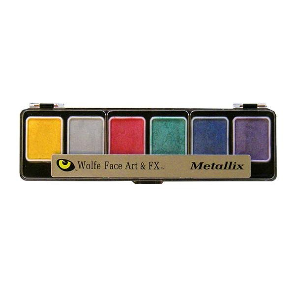 Wolfe FX Hydrocolor Palette - Metallix Color Palette / 6-Color | Camera Ready Cosmetics - 6
