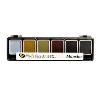 Wolfe FX Hydrocolor Palette - Monster Color Palette / 6-Color | Camera Ready Cosmetics - 8