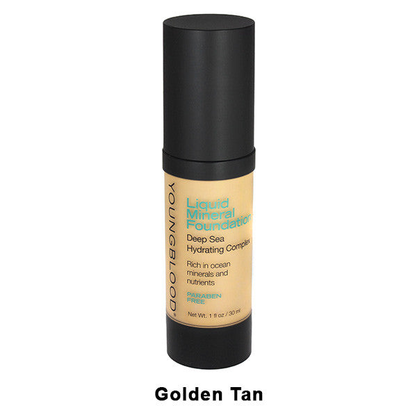 Youngblood Liquid Mineral Foundation - Golden Tan | Camera Ready Cosmetics - 4