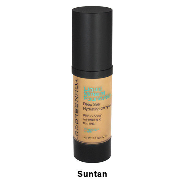 Youngblood Liquid Mineral Foundation - Suntan | Camera Ready Cosmetics - 8