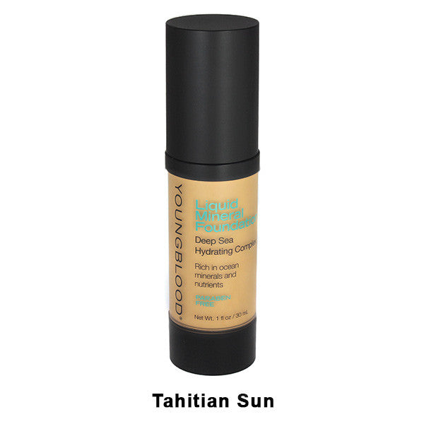 Youngblood Liquid Mineral Foundation - Tahitian Sun | Camera Ready Cosmetics - 9
